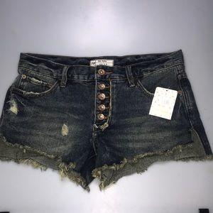 NWT - Free People Jillian Blue Shorts